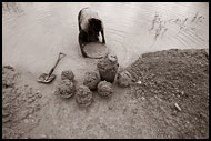 Woman Working In Diamond Mines, Diamond Mines, Sierra Leone