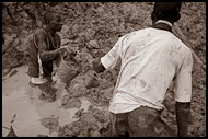 Transporting Soil In Diamond Mines, Diamond Mines, Sierra Leone