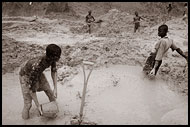 Workers In Diamond Mines, Diamond Mines, Sierra Leone