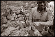Worker In Diamond Mines, Diamond Mines, Sierra Leone