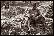 Worker Taking A Rest, Diamond Mines, Sierra Leone