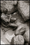 Working In Diamond Mines, Diamond Mines, Sierra Leone