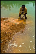 Searching For Diamonds Using Seruca, Diamond Mines In Color, Sierra Leone