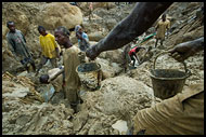 Transporting Soil From The Bottom Of Diamond Mines, Diamond Mines In Color, Sierra Leone