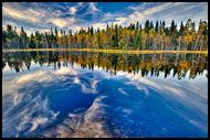 Skomakertjern Lake, Autumn in Nordmarka, Norway