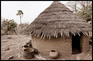 Typical Bedick House, Bedick Tribe, Senegal