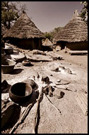 Typical Bedick Houses, Bedick Tribe, Senegal