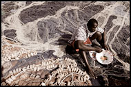 Fisherman Eating Lunch, Casamance, Senegal