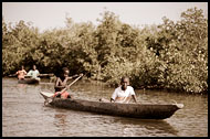 Boys On Pirogue, Casamance, Senegal