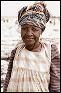 Old Lady On A Salt Field, Salt Harvesting, Senegal