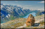 Stone By Besseggen, Jotunheimen, Norway