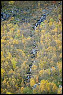 Waterfall In Grøndalen, Autumn In Hemsedal, Norway