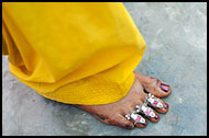 Toe Rings, Jaipur slum dwellers, India
