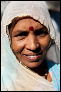 Indian Woman, Jaipur slum dwellers, India