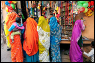 Rajasthani Women Shopping, Shekhawati, India