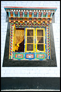 Window Of Prayer Hall, Buddhist Sikkim, India