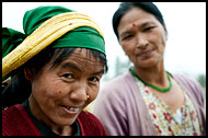 Bhutia Women, Buddhist Sikkim, India