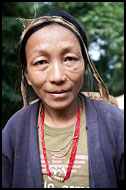 Bhutia Woman, Buddhist Sikkim, India