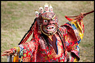 Mask Dancer, Cham Dance, India