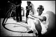 Life On Slum Street, Black And White Snaps, India