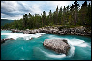 Glacial River, Land Of Fjords, Norway