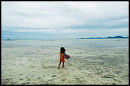 Girl And Sea, Sea gypsies - Bajau Laut, Malaysia