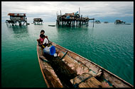 Children In A Boat, Sea gypsies - Bajau Laut, Malaysia