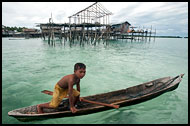 Boy And Boat, Sea gypsies - Bajau Laut, Malaysia