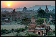 Sunset And Temples In Bagan, Best Of, Myanmar (Burma)
