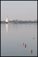 Fishermen On Taungthaman Lake, Amarapura, Myanmar (Burma)