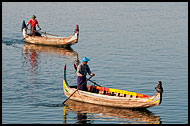 Boats On Taungthaman Lake, Amarapura, Myanmar (Burma)