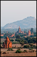 Temples During Sunset, Bagan, Myanmar (Burma)