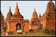 Sitting Buddha During Sunset, Bagan, Myanmar (Burma)