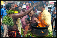 Giving Blessing, Thaipusam, Malaysia