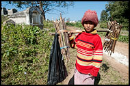 Boy Carrying Wood, Hsipaw, Myanmar (Burma)
