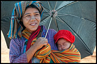 Tribal Woman With Baby, Kalaw Trekking, Myanmar (Burma)