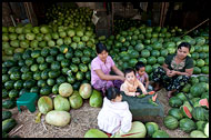 Selling Watermelon, Mandalay, Myanmar (Burma)