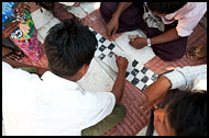 Men Playing Game, Mandalay, Myanmar (Burma)