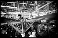 Making Parasol, Black And White, Myanmar (Burma)