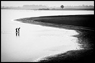 Taungthaman Lake, Black And White, Myanmar (Burma)