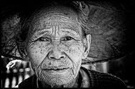 Shan Woman, Black And White, Myanmar (Burma)