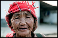 Hani Elderly Woman, Xishuangbanna, China