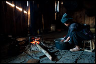 Cooking On Fireplace, Xishuangbanna, China