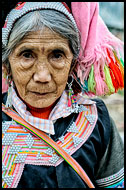 Yi Elderly Woman, Tribal Local Market, China