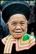 Miao Elderly Woman, Tribal Local Market, China