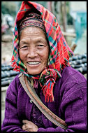 Miao Woman, Tribal Local Market, China