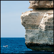 Boat And Cliffs, Gozo, Malta