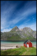 Boathouse And Mountains, Lofoten 2013, Norway